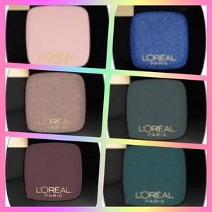6 Loreal Eyeshadow Colour Riche Palettes